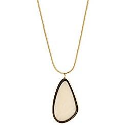 Betty Jackson.Black - Designer cream and jet resin drop necklace