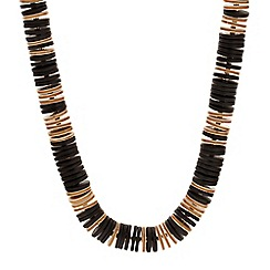 Betty Jackson.Black - Designer black and brown disc necklace