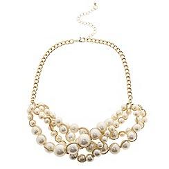 Betty Jackson.Black - Designer cream pearl multi row necklace
