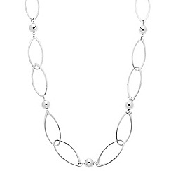 Betty Jackson.Black - Designer long polished ball and curved link necklace