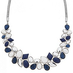 Betty Jackson.Black - Designer statement blue stone cluster necklace