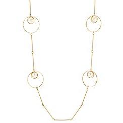 Betty Jackson.Black - Designer pearl ring drop link necklace