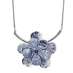 Betty Jackson.Black - Resin flower necklace