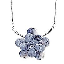 Betty Jackson.Black - Resin flower necklace