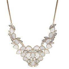 Betty Jackson.Black - Designer white stone cluster drop necklace