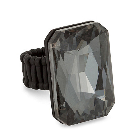 Betty Jackson.Black - Designer facet glass octagon stretch ring