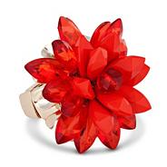 Designer online exclusive 3-d coral flower ring