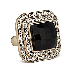 Betty Jackson.Black - Designer jet crystal cocktail ring