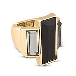 Betty Jackson.Black - Designer triple glass stone ring