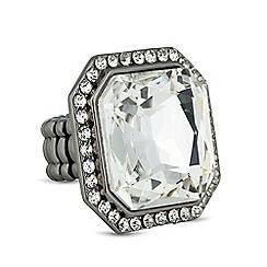 Betty Jackson.Black - Designer crystal stone surround stretch ring