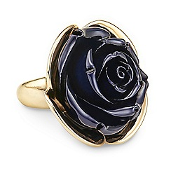 Betty Jackson.Black - Resin flower ring