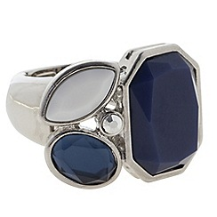 Betty Jackson.Black - Designer statement blue stone stretch ring
