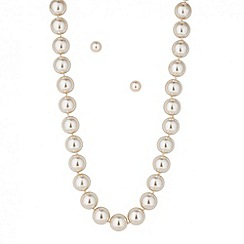 Betty Jackson.Black - Designer cream magnetic pearl set