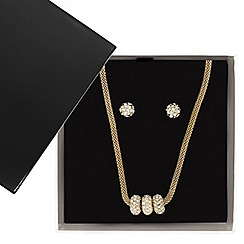 Betty Jackson.Black - Designer great value crystal disc jewellery set