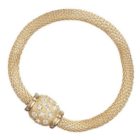 Betty Jackson.Black - Gold magnetic fastening bracelet