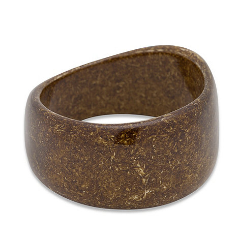 Betty Jackson.Black - Forest speckled resin bangle