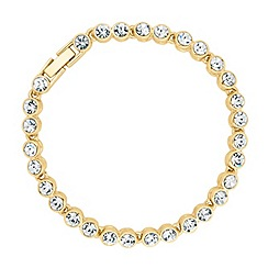 Betty Jackson.Black - Polished gold tennis bracelet