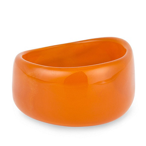 Betty Jackson.Black - Orange trapped shell chunky bangle