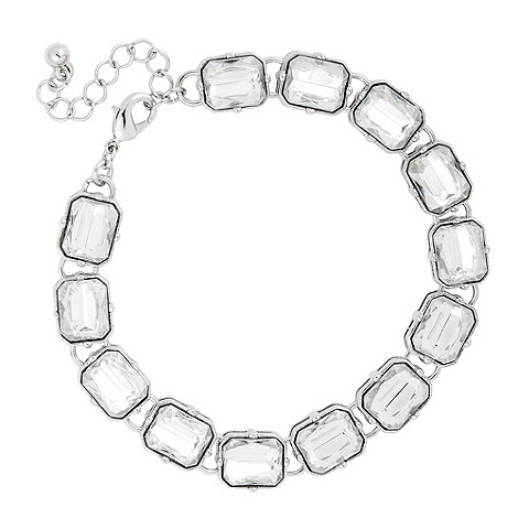 Betty Jackson.Black - Chunky crystal bezel set multi stone bracelet