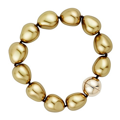 Betty Jackson.Black - Baroque style gold pearl magnetic bracelet