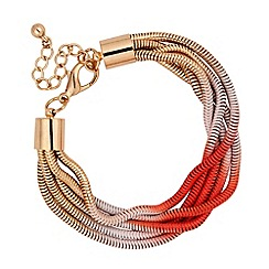 Betty Jackson.Black - Designer coral spray effect multi chain bracelet