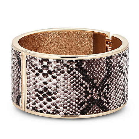 Betty Jackson.Black - Designer snake print hinged bangle