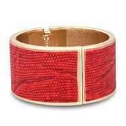 Designer coral snake print panelled bangle