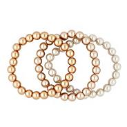 Designer ombre effect stretch pearl bracelet set