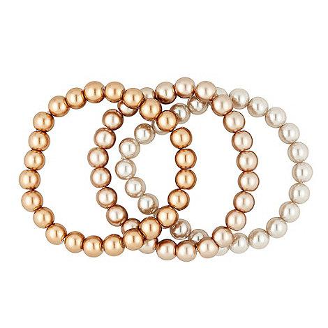 Betty Jackson.Black - Designer ombre effect stretch pearl bracelet set