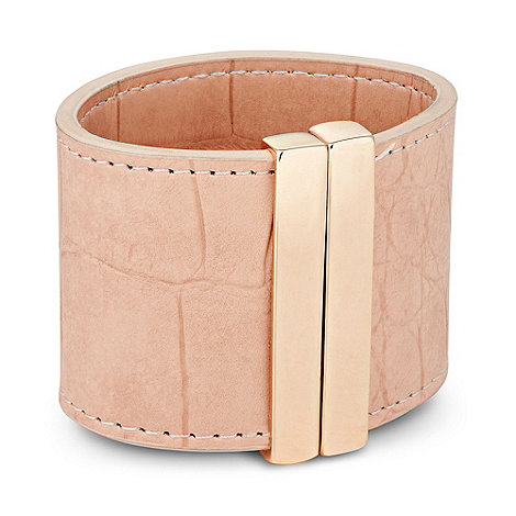 Betty Jackson.Black - Designer nude fabric magnetic cuff bracelet