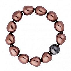 Betty Jackson.Black - Designer chocolate baroque pearl bracelet