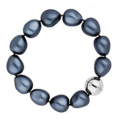 Betty Jackson.Black - Designer grey baroque pearl bracelet