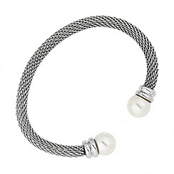 Betty Jackson.Black - Designer pearl and mesh chain bangle