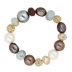 Betty Jackson.Black - Designer pastel bead stretch bracelet