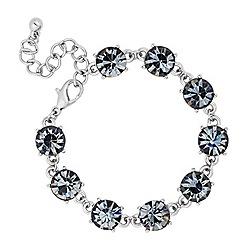 Betty Jackson.Black - Designer grey crystal stone link bracelet