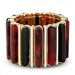 Betty Jackson.Black - Designer marbleised resin stick stretch bracelet