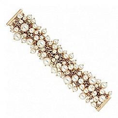 Betty Jackson.Black - Designer cluster pearl chain magnetic bracelet