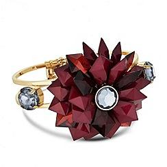 Betty Jackson.Black - Designer 3-d red floral hinged bangle