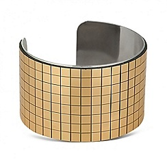 Betty Jackson.Black - Designer web exclusive gold square geometric cuff