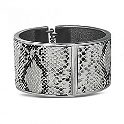 Betty Jackson.Black - Designer grey snake print bangle