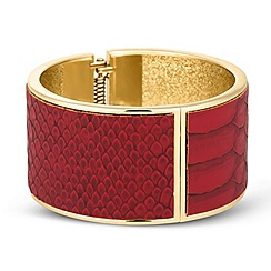 Betty Jackson.Black - Designer red snake skin effect bangle
