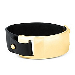 Betty Jackson.Black - Designer leatherette wrap around bracelet