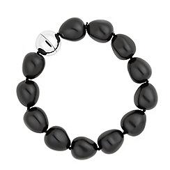 Betty Jackson.Black - Designer baroque jet pearl strand bracelet