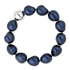 Betty Jackson.Black - Designer baroque blue pearl strand bracelet