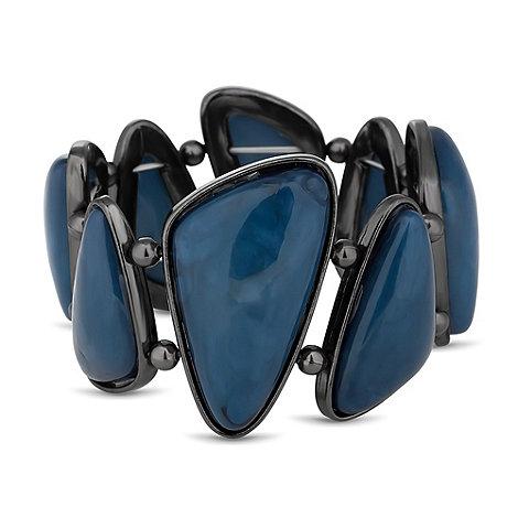 Betty Jackson.Black - Designer marbleised blue stone stretch bracelet