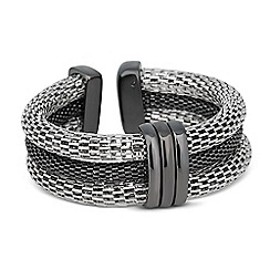 Betty Jackson.Black - Designer two tone triple row mesh bangle
