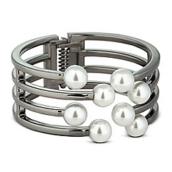 Betty Jackson.Black - Designer pearl and lattice effect bangle