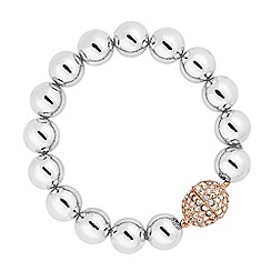 Betty Jackson.Black - Designer silver ball rose gold clasp bracelet