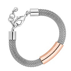 Betty Jackson.Black - Designer rose gold tubular mesh bracelet