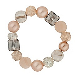 Betty Jackson.Black - Designer blush pink beaded stretch bracelet